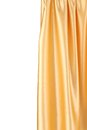 Gold silk drapery close up whole background Stock Photos