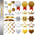 Gold silver bronze awards set Royalty Free Stock Photos