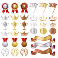 Gold silver bronze awards set Royalty Free Stock Image
