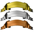 Gold, silver and bronze banners Royalty Free Stock Photo