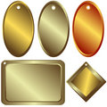 Gold, silver and bronze  counters Royalty Free Stock Images