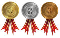 Gold, silver and bronze - medals 1 2 3
