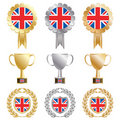 Gold silver bronze uk Royalty Free Stock Photos
