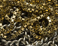 Gold and silver chain Royalty Free Stock Photo