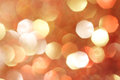 Gold silver red white orange abstract bokeh lights defocused background christmas Stock Photos