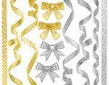 Gold and silver ribbons