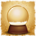 Gold snow globe Royalty Free Stock Photography