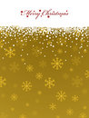 Gold snowflake background Royalty Free Stock Photo