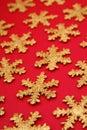 Gold Snowflake Shapes