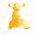 Gold source Royalty Free Stock Images