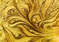 Gold Sparkle Zoom. Royalty Free Stock Photo
