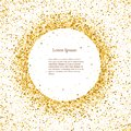 Gold sparkles on white background. Gold club logotype, logo, icon for card, vip, exclusive, certificate, gift, luxury