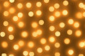 Gold spots bokeh Stock Photography
