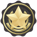 Gold Star Award, Badge, or Seal Royalty Free Stock Photo