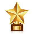 Gold star award vector illustration of Royalty Free Stock Image