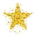 Gold Star Burst. Starry Pattern