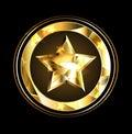 Zlato hviezda fólie