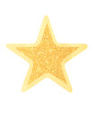 Gold star glittering isolated on white background Stock Images