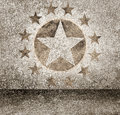 Gold star hollywood event background. Walk of fame Royalty Free Stock Photo