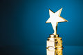 Gold star trophy Royalty Free Stock Photo
