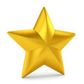 Gold star on white single background Royalty Free Stock Images