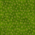 Gold stars on green background Stock Photography