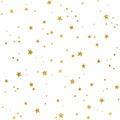 Gold stars pattern
