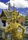 Gold statue at the royal palace in bangkok,thailand Royalty Free Stock Photo