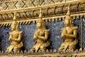 Gold statues at the grand palace bangkok image of of Stock Photos