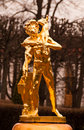 Gold Statues of Peterhof Stock Photos