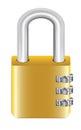 Gold steel master key lock with padlock Royalty Free Stock Photo