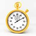 Gold stop watch Royalty Free Stock Photo