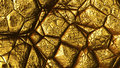 Gold structure unusual bright golden texture closeup Royalty Free Stock Photography
