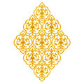 Gold Stucco design of native thai style antique flower