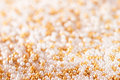 Gold sugar pearls Stock Photography