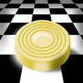 Gold sword on a chess-board Royalty Free Stock Photos
