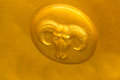 Gold Taurus symbol Royalty Free Stock Photo