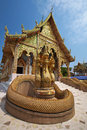 Gold temple in thailand northern Stock Images