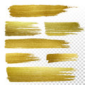 Gold textured paint strokes