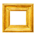 Gold thick wooden frame Royalty Free Stock Photo