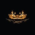 Gold tiara for the QUEEN.