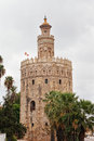 Gold tower in seville spain Stock Photo