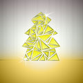 Gold triangle cluster tree vector card Royalty Free Stock Photo