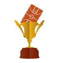 Gold trophy and basketball design Royalty Free Stock Photo