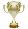 Gold Trophy Blank Copy Space Top Prize Award Winner Royalty Free Stock Photo