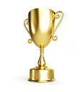 Gold trophy cup Royalty Free Stock Photo
