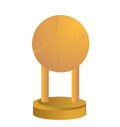 Gold trophy cup baseball on a white background Stock Photography