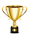 Gold Trophy Icon Royalty Free Stock Photo