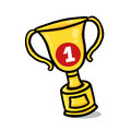 Gold Trophy Illustration Royalty Free Stock Photos