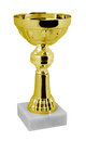 Gold trophy on a white background Royalty Free Stock Photography